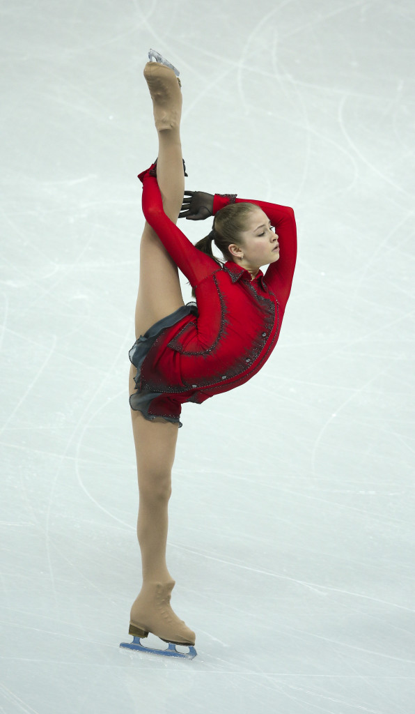 Sochi, Russia - February 9 - SSOLY-At the Winter Olympics in Sochi, the finals of the team figure skating competition was held at the Iceberg. In the women's free program Russian Yulia Lipnitskaya skates February 9, 2014 (Richard Lautens/Toronto Star via Getty Images)